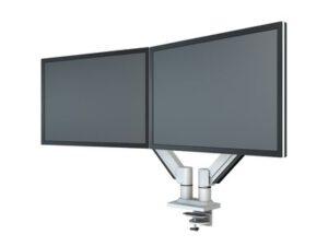 Monitorivarsi 2 näytölle Kaasujousella, harmaa [10046SI]