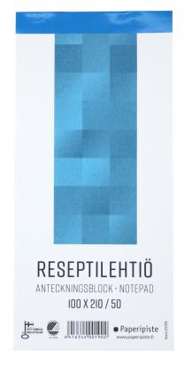 Reseptilehtiö 100×210/50 101055