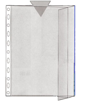Patenttitasku A4 sininen reuna 130081