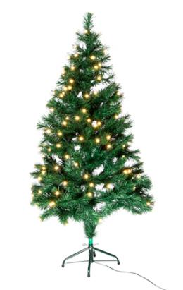 Joulukuusi 150cm vihreä LED 550554