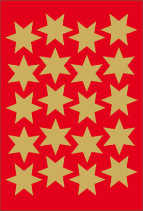 Decor tarra Kultaiset tähdet 115603