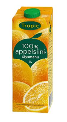 Tropic appelsiinitäysmehu 1L 520410
