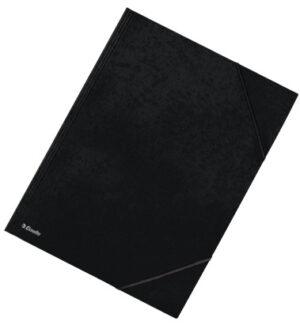 Kulmalukkokansio läpällä A3 musta kart