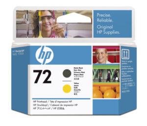 HP No 72 keltainen+ mattamusta 253110