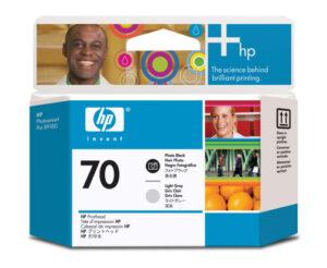 HP No 70 photomusta+ v. harmaa 1004845