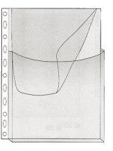 Läppätasku A4 sivuvekillä PVC 10kpl/pss