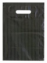 Muovikassi 250x350mm musta-raita  900kpl/ltk