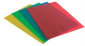 Muovitasku OD A4 2-sivua auki 120mic värilajitelma, 100/pak