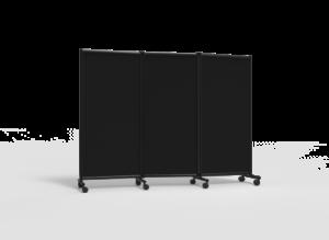 Näyttelyseinäke One Screen 3-osainen 2280x1705mm musta