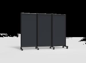 Näyttelyseinäke One Screen 3-osainen 2280x1705mm tummanharmaa