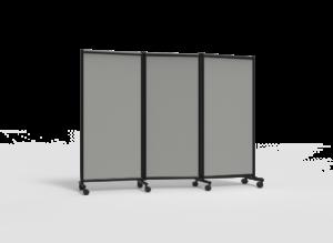 Näyttelyseinäke One Screen 3-osainen 2280x1705mm harmaa