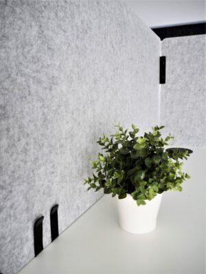 Pöytäseinäke/Pöytäsermi Easy 1200x590mm tummanharmaa (Nouto)