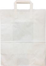 Paperikassi kantokahvoilla 21L valkoinen 320x17x40cm 200KPL