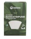 Suodatinpaperi Eskimo 1×4  valkoinen, 100kpl/ras