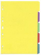 Välilehtisarja A4/5-osainen värillinen kartonki 50KPL