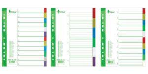 Välilehtisarja A4/5-osainen värillinen  20KPL