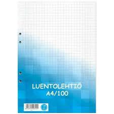 Luentolehtiö A4/100 SK  5/PAK