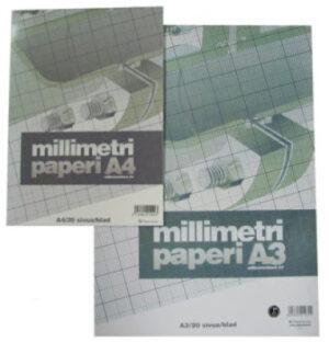 Millimetrilehtiö A4/20 412002