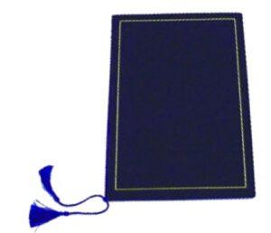 Adressikansio sininen samettia 124000
