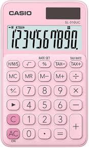 Taskulaskin Casio SL-310UC PK pinkki VERO