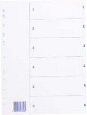Hakemisto 1-6 kartonki A4 127016