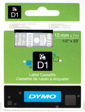 Dymo D1 12mm x 7 m valk-kirkas 1007896