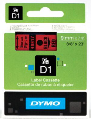 Dymo D1 9mm x 7m musta-pun 205723