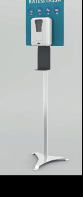STT12 Käsidesiautomaatti  1400annosta säiliössä (verkkovirta/paristokäyttöinen)