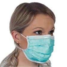 Kirurginen nenä-suusuojus, Type IIR (roiskesuojattu) 1000kpl/ltk. (50kpl/pak) Heti toimittaa!