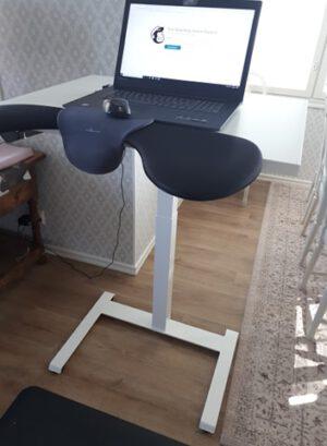Yksijalkainen pieni sähköpöytä Linak DL16ic valk. (kansi 80x60cm) NOUTO