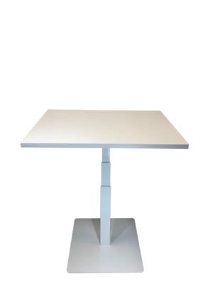 Yksijalkainen pieni sähköpöytä STT Single valk. (kansi 80x60cm)