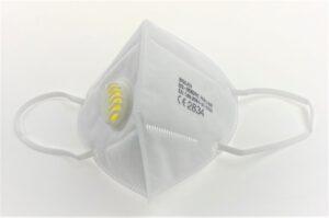 Hengityssuojain KN95 FFP2, venttiilillä (4-kerros) 100kpl/ltk