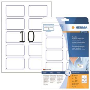 Tekstiilitarra Herma 4410 80x50mm 10-os  sininen 20ark/ras  5RAS