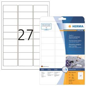 Tekstiilitarra Herma 4511 63,5×29,6mm 27-os  20ark/ras  5RAS