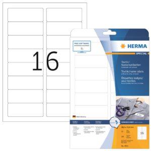 Tekstiilitarra Herma 4515  88,9×33,8mm 16-os  20ark/ras  5RAS