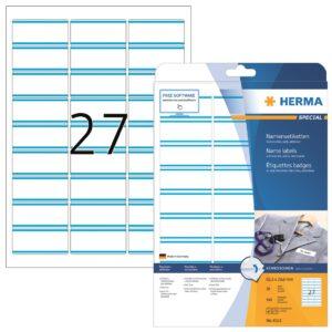Tekstiilitarra Herma 4513 63,5×29,6mm valk/sin 27-os  20ark/ras  5RAS