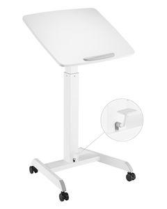 Korkeussäädettävä pöytä GetUpDesk Tilt kallistettavalla työtasolla valk.
