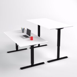 Pieni Sähköpöytä kotitoimistoon 2-jalalla Ecoline musta, kansi 110x65cm.