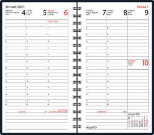 Fickkalender Agenda brun, Ajasto, 2021