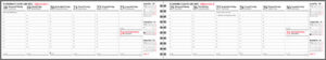 Pöytäkalenteri Kaarna 14 (2vkoa) harmaa, 2021