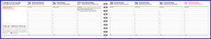Pöytäkalenteri Kaarna 5-kielinen, sininen, 2021