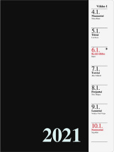 Pöytäkalenteri Kanerva musta, 2021