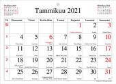 Seinäkalenteri Kuukausilehtiö, 2021