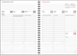 Pöytäkalenteri Nova Eko musta, 2021