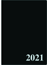 Pöytäkalenteri Tuohi (Päivämuistio) nide A4, musta 2021