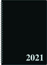 Pöytäkalenteri Tuohi (Päivämuistio) kierre A4, musta 2021