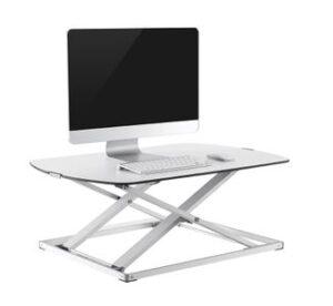 GetUpDesk free, kotitoimiston pieni säädettävä pöytätaso 79x56cm valkoinen