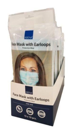 Kirurginen nenä-suusuojus, Type II R  10kpl:n pikkupusseissa 15pss/pak (150maskia) Heti toimittaa!