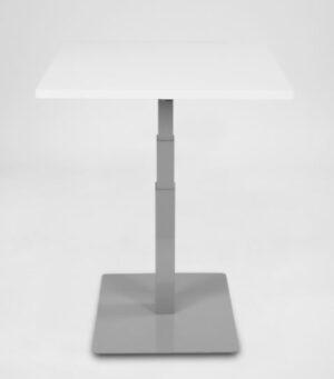 1-jalkainen pieni sähköpöytä STT Desk Single harmaa (kansi 80x60cm)