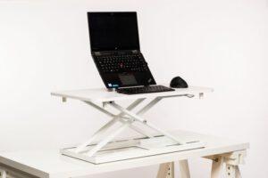 Stoo® Desk On Desk, kotitoimiston pieni säädettävä pöytätaso 73x47cm valkoinen